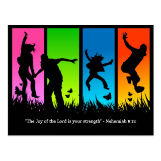 Freude am Nehemiah Postkarte Lords Christian 8:10
