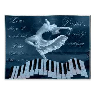 Freude am Tanzen und an der Musik Postkarte
