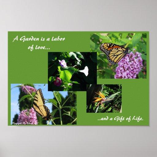 Freude an der Gartenarbeit Plakatdruck
