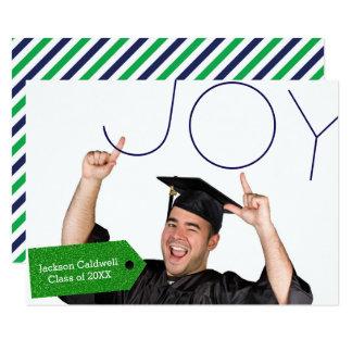 Freude-Foto - Mitteilung des Abschluss-3x5 8,9 X 12,7 Cm Einladungskarte