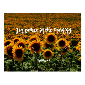 Freude kommt morgens Vers Postkarte
