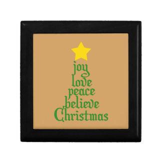 Freude, Liebe, Frieden, glauben, Weihnachten Erinnerungskiste