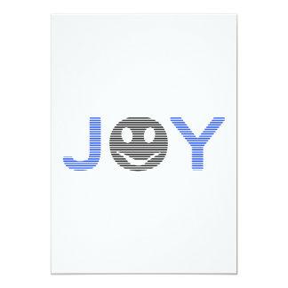 Freude - smiley - Streifen - Blau und Schwarzes Karte