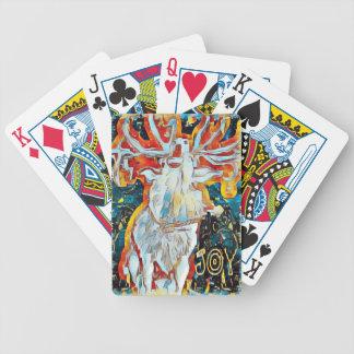 Freude verzierte Caroling Rotwild Bicycle Spielkarten