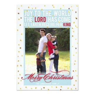 Freude zum Weltweihnachten 12,7 X 17,8 Cm Einladungskarte