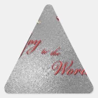 Freude zum Weltweihnachten Dreieckige Aufkleber