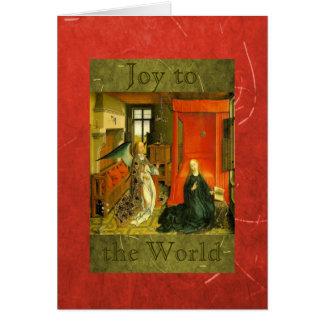 Freude zum Weltweihnachten freuen sich Grußkarte