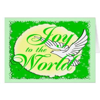 Freude zum Weltweihnachten Grußkarte