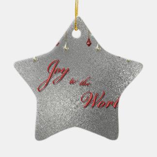 Freude zum Weltweihnachten Keramik Stern-Ornament