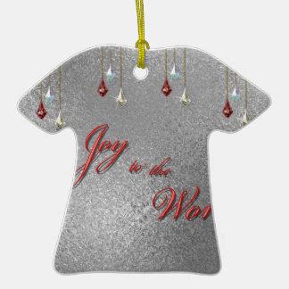 Freude zum Weltweihnachten Keramik T-Shirt-Ornament