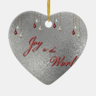 Freude zum Weltweihnachten Keramik Herz-Ornament