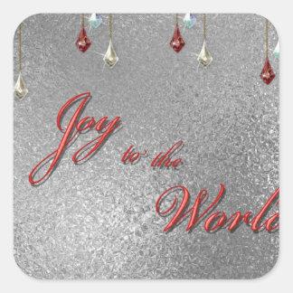 Freude zum Weltweihnachten Quadratischer Aufkleber