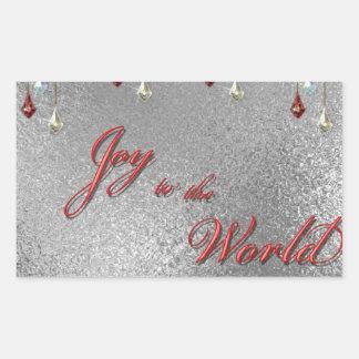 Freude zum Weltweihnachten Rechteckiger Aufkleber