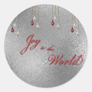 Freude zum Weltweihnachten Runder Aufkleber