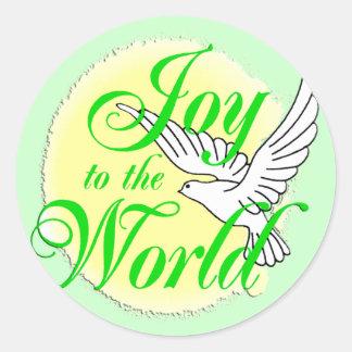 Freude zum Weltweihnachten Runder Sticker