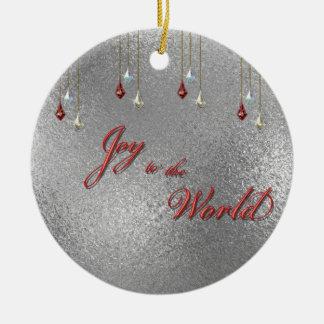Freude zum Weltweihnachten Rundes Keramik Ornament