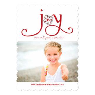 Freude zum Weltweihnachten scherzt 12,7 X 17,8 Cm Einladungskarte