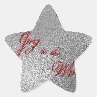 Freude zum Weltweihnachten Stern-Aufkleber