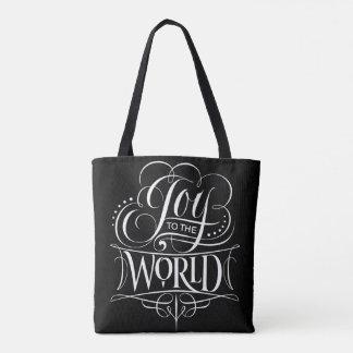 Freude zum WeltweihnachtsKalligraphie-Schwarzen Tasche