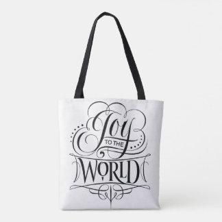 Freude zum WeltweihnachtsKalligraphie-Weiß Tasche