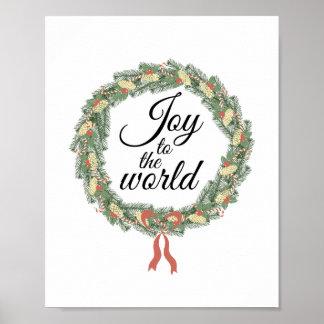 Freude zum WeltweihnachtsKranz Poster