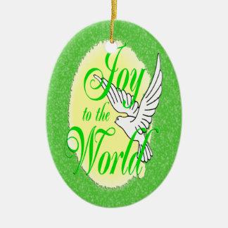 Freude zum Weltweihnachtsverzierungs-Oval Ornamente