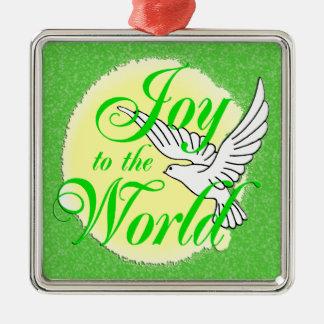 Freude zum Weltweihnachtsverzierungs-Quadrat Ornamente