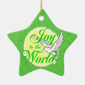 Freude zum Weltweihnachtsverzierungs-Stern Ornament