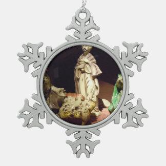 Freude zur Welt Schneeflocken Zinn-Ornament