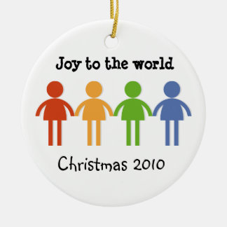 Freude zur Welt Weihnachtsbaum Ornamente