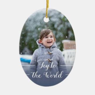 Freude zur Welt - Weihnachtsverzierung Keramik Ornament