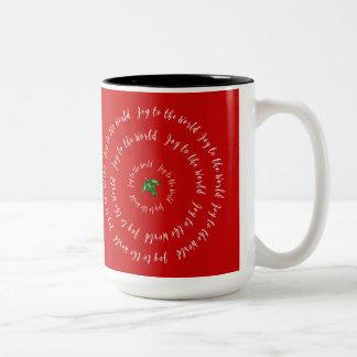 Freude zur Weltroten Stechpalmen-Tasse Zweifarbige Tasse
