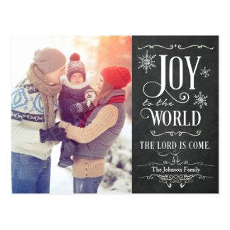Freude zur Welttafel-Weihnachtspostkarte Postkarte