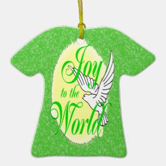 Freude zur WeltweihnachtsT - Shirt-Verzierung Keramik T-Shirt-Ornament