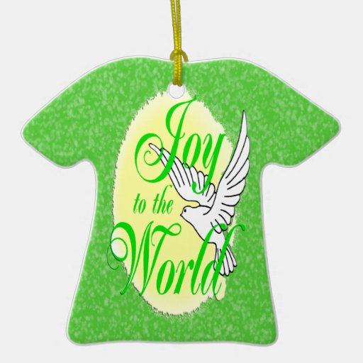 Freude zur WeltweihnachtsT - Shirt-Verzierung Ornament