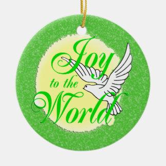 Freude zur Weltweihnachtsverzierung rund Rundes Keramik Ornament