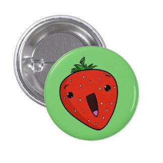 Freudig erregt Erdbeere Runder Button 2,5 Cm