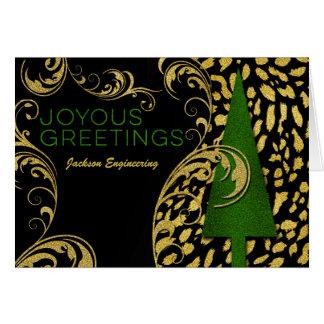 Freudige Grüße im Grün und im Goldgeschäft Karte