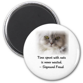 Freuds Katze Runder Magnet 5,7 Cm