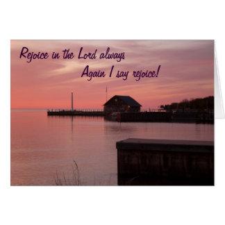 Freuen Sie sich im Lord, immer wieder, das ich Karte