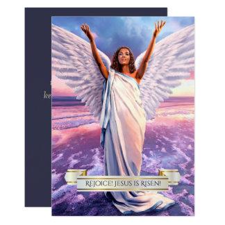 Freuen Sie sich! Jesus wird gestiegen. Religiöse Karte