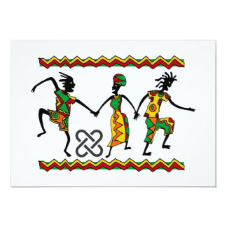 Freuen Sie sich Kwanzaa-Feiertags-Party Karte