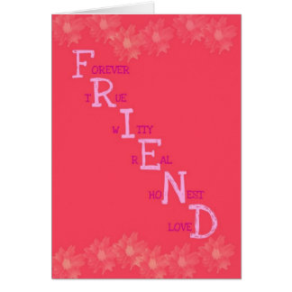 Freund-Bedeutungs-Gruß-Karte Karte
