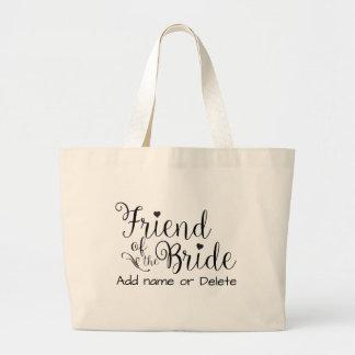Freund Braut-Hochzeits-Geschenk-der großen Jumbo Stoffbeutel