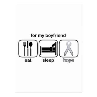 Freund essen Schlaf-Hoffnung - Lungenkrebs Postkarte