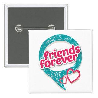 Freund-für immer Liebeherzen <3 Quadratischer Button 5,1 Cm