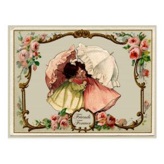 Freund-für immer Vintage Wiedergabe-Postkarte Postkarte