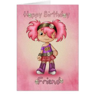 Freund - Geburtstags-Karte - Little Rock-Küken Karte