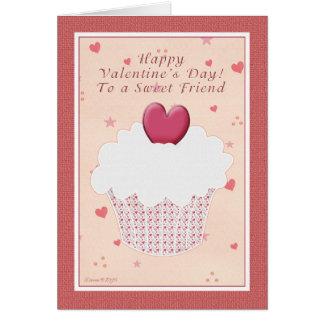Freund-glücklicher Valentinstag - Herz-kleiner Grußkarte