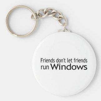 Freund-Lauf Windows Schlüsselanhänger